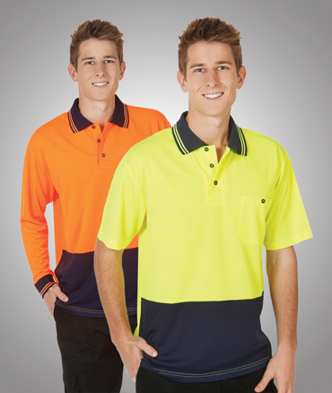 Hi Vis safety polo shirt Cool Dry