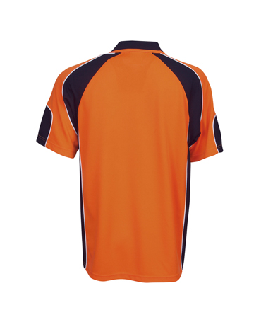 P86 Hi Vis Side Panel Safety  Polo Shirt