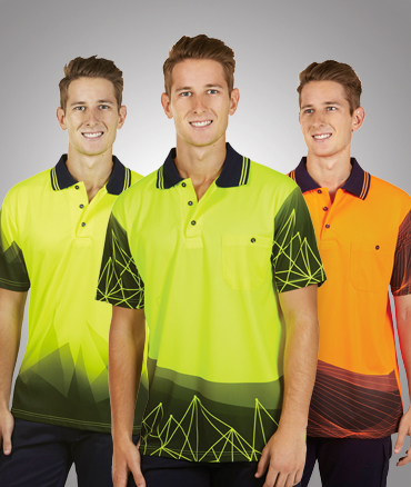 Sublimated Hi Vis safety polo shirt Cool Dry