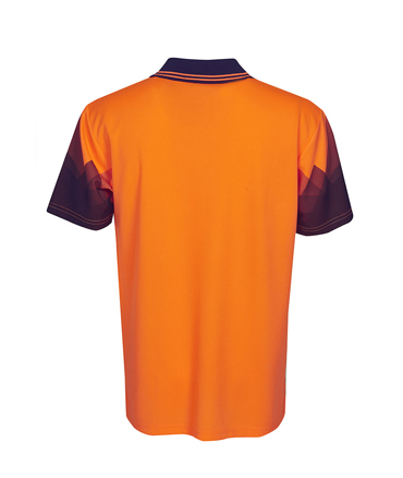 P65 Orange / Navy  back