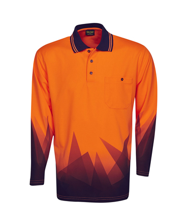 P68  Fluro Orange / Navy