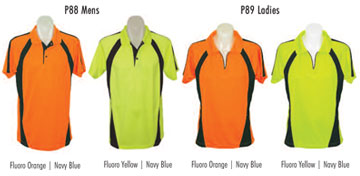 colours saftey polo shirts short and long sleeve