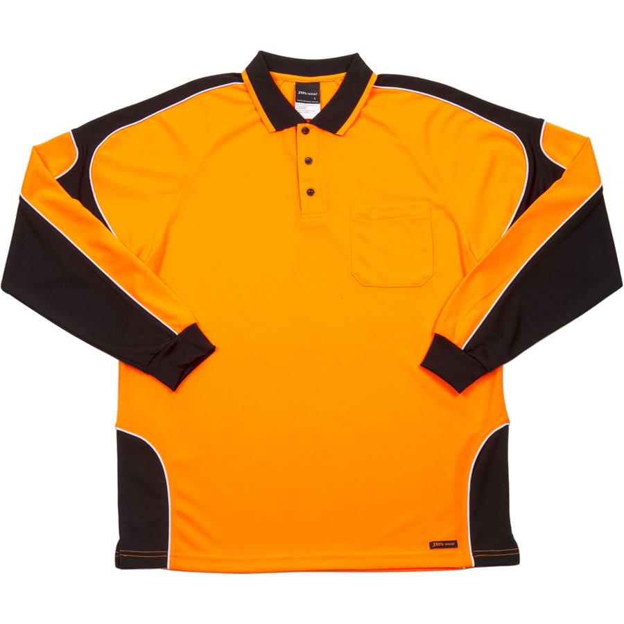 Impact gear hi vis arm panel polo for Hi vis polo shirts with pocket