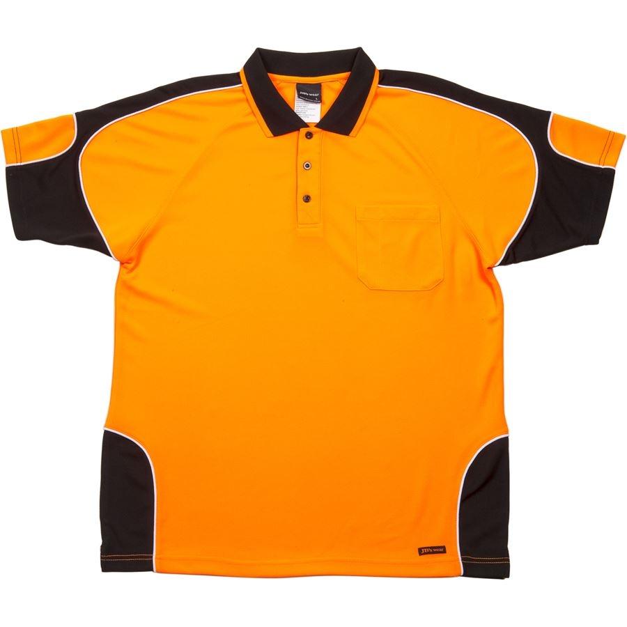 Impact gear 6ap4s hi vis arm panel polo for Hi vis polo shirts with pocket