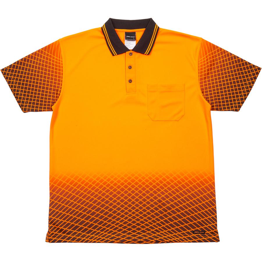 Impact gear hi vis net sub polo for Hi vis polo shirts with pocket