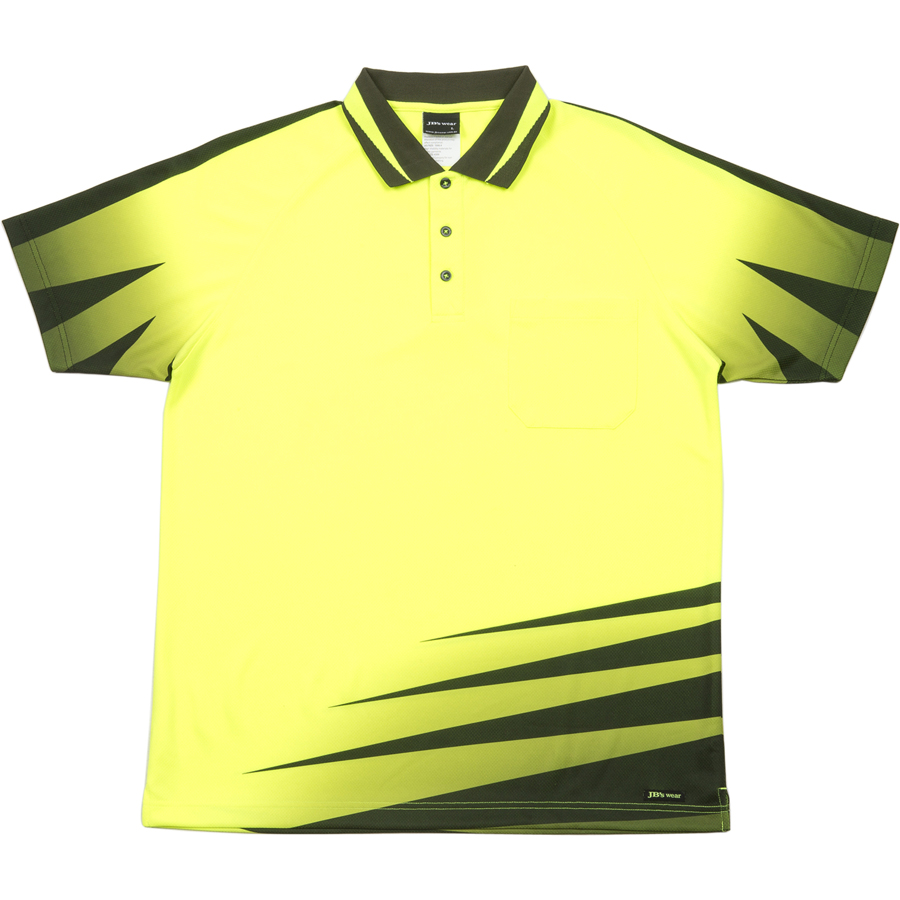Impact gear hi vis rippa sub polo shirt safety polo shirt for Hi vis t shirt printing