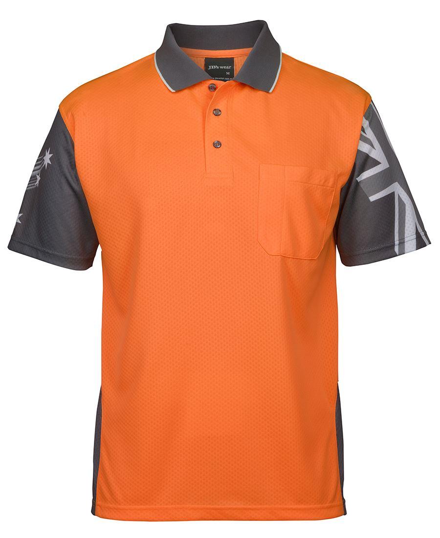 Hi Vis  Polo shirt Long Sleeve Southern Cross Aust