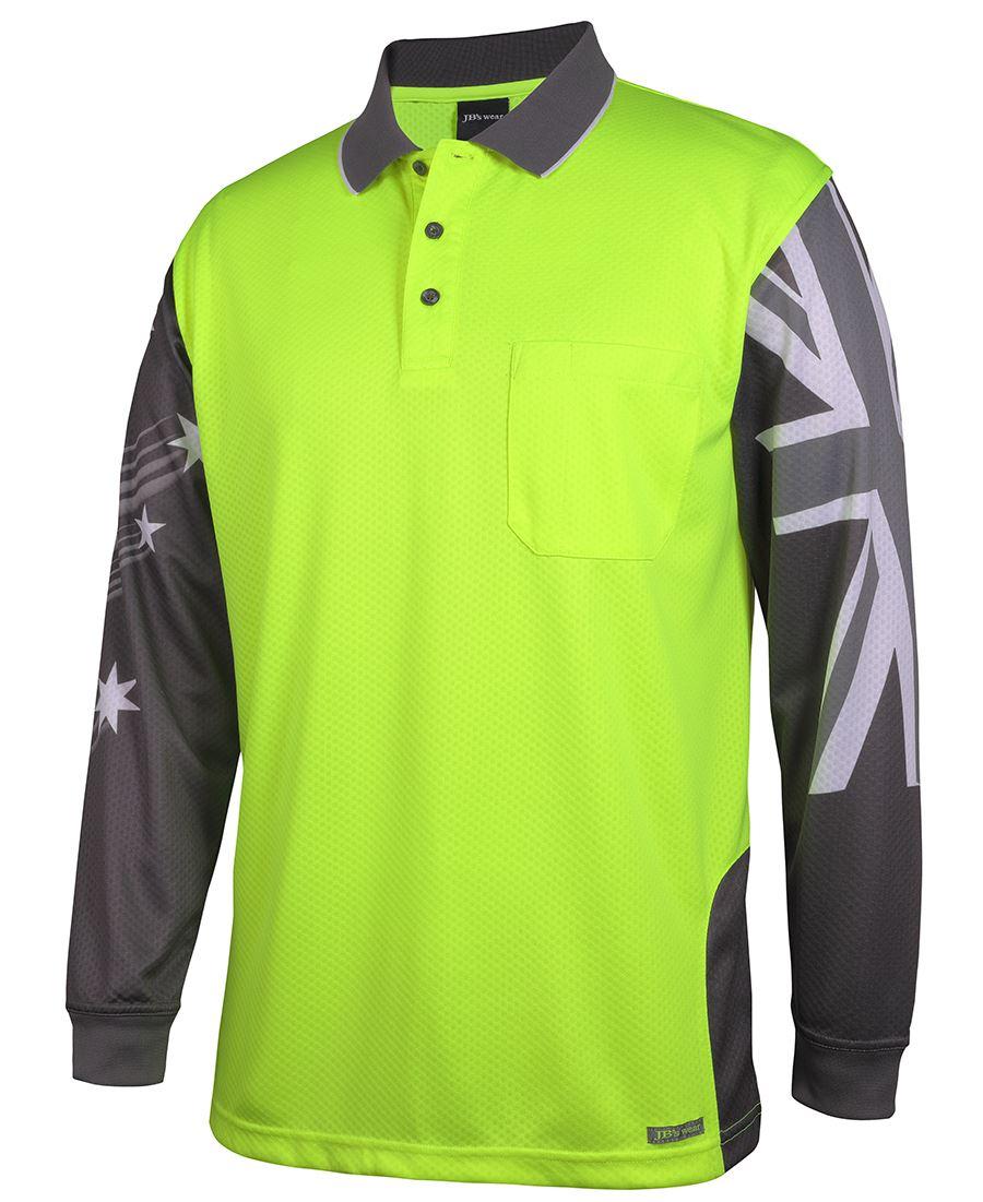 Long Sleeve South Cross Hi Vis Polo shirt