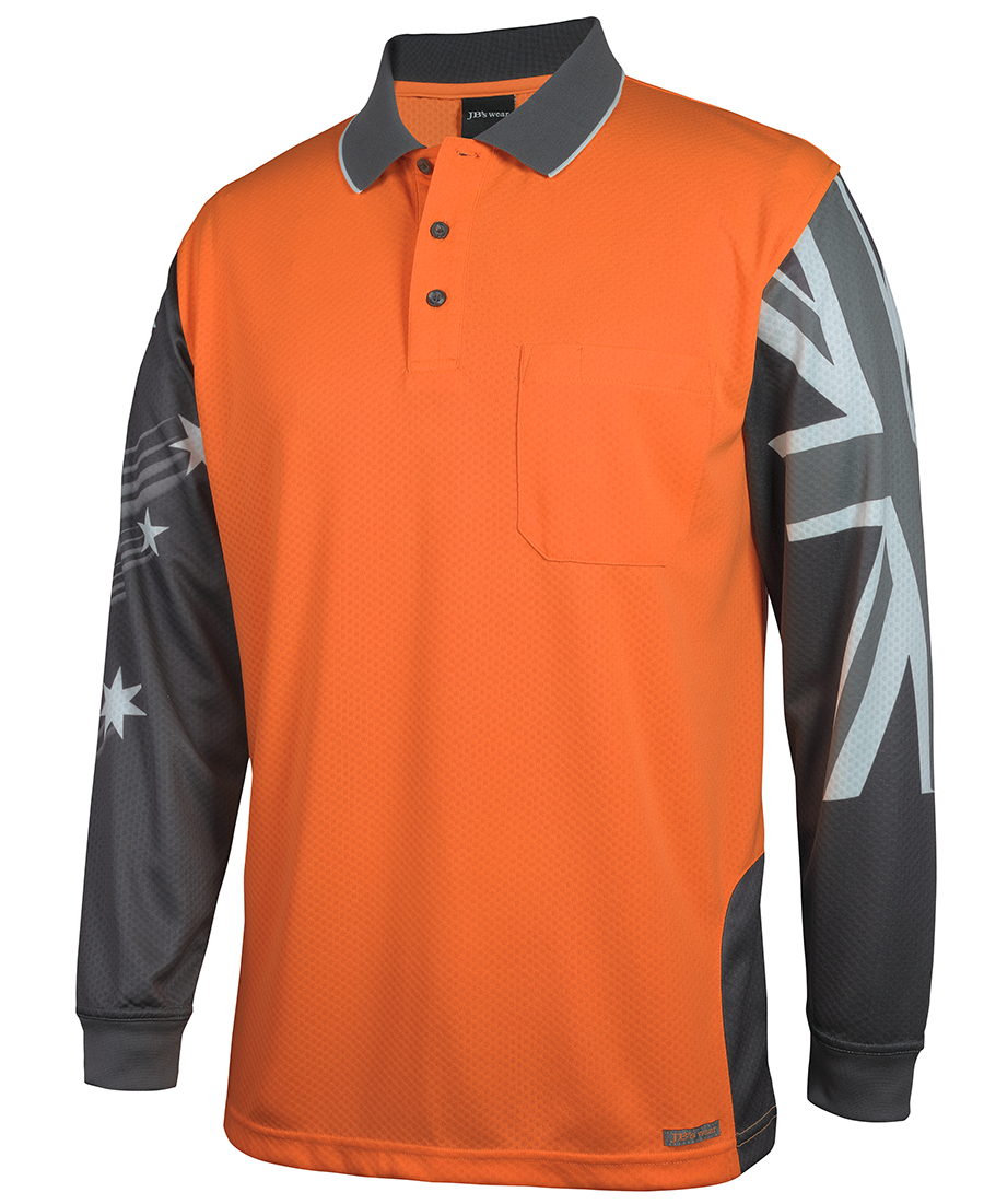 Hi Vis Safety Polo shirt Southern Cross Design