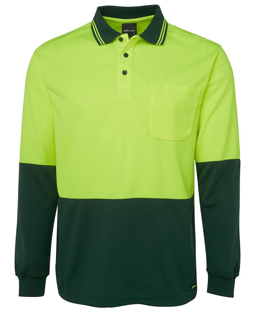 JBs Hi Vis Long Sleeve Polo