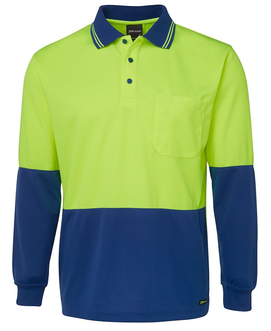 6HVPL Hi Vis Polo shirt Long Sleeve