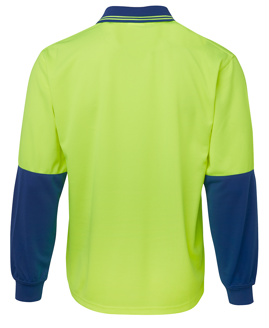 BACK Hi Vis Polo Long Sleeve