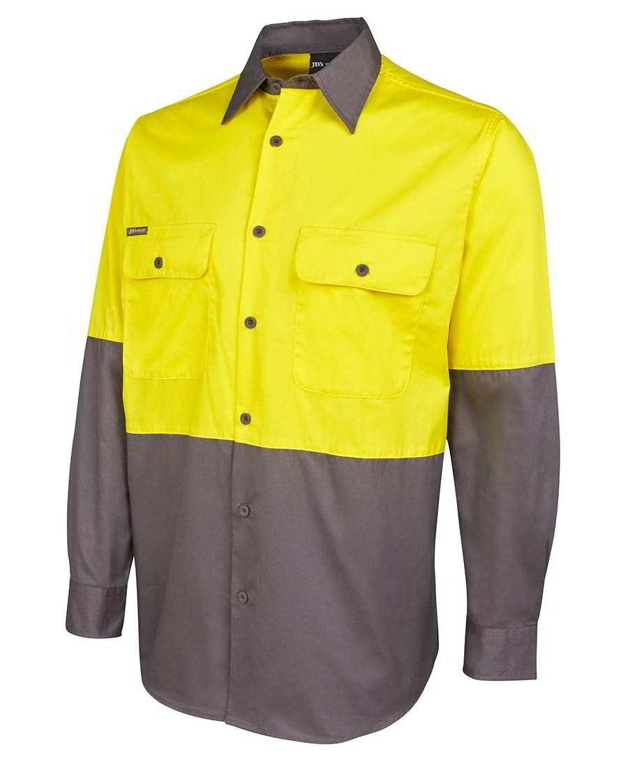 Impact gear hi vis safety work shirts short sleeve long for Hi vis safety shirts