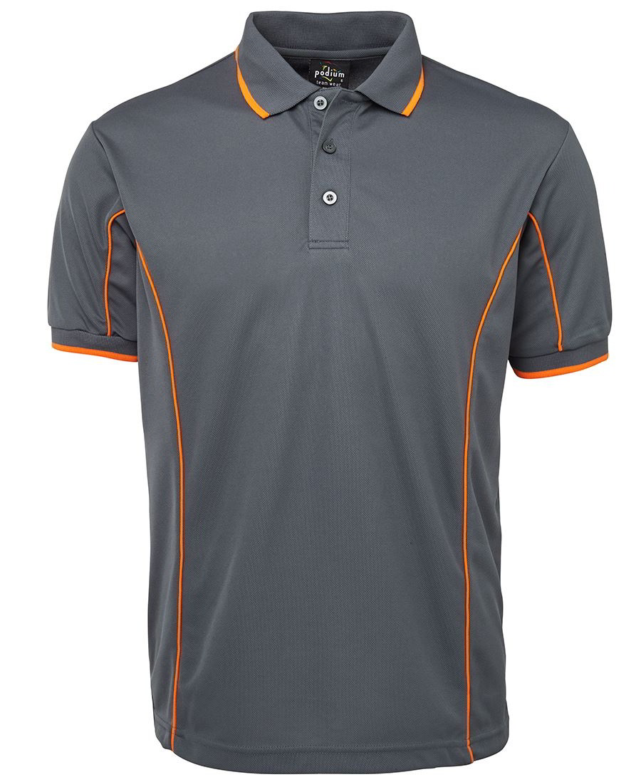 impact gear piping polo shirt cool dry quick drying upf