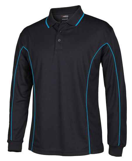 Piping Polo shirt long sleeve