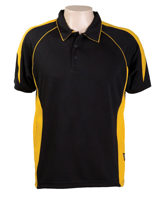 Black Gold334 Olympikool Polo shirts, Cool dry, breathable, light weight, Mens, Ladies, Kids