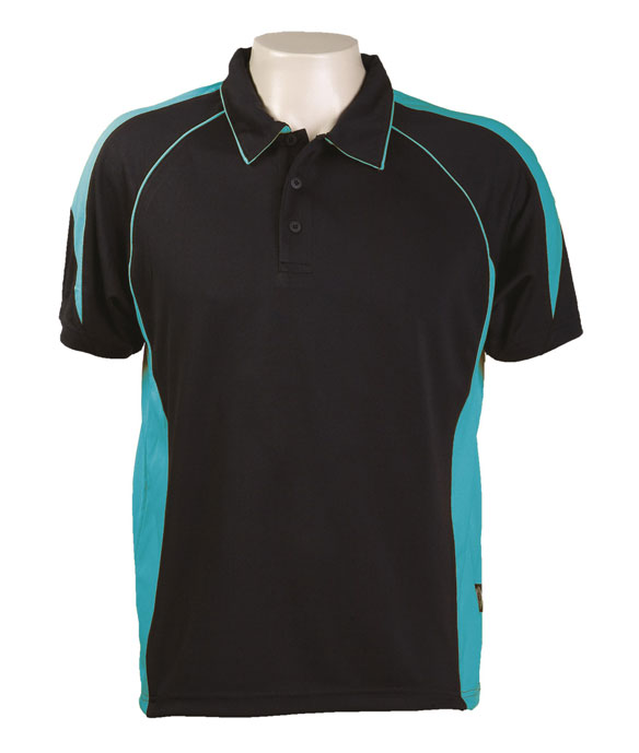 Black Teal 334 Olympikool Polo shirts, Cool dry, breathable, light weight, Mens, Ladies, Kids
