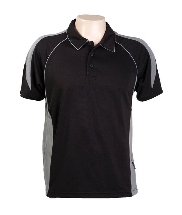 Black Ashe 334 Olympikool Polo shirts, Cool dry, breathable, light weight, Mens, Ladies, Kidspolo shirt 100% kooldri