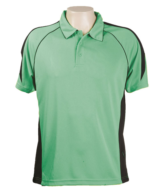 Emerald / Black 334 Olympikool Polo shirts, Cool dry, breathable, light weight, Mens, Ladies, Kids