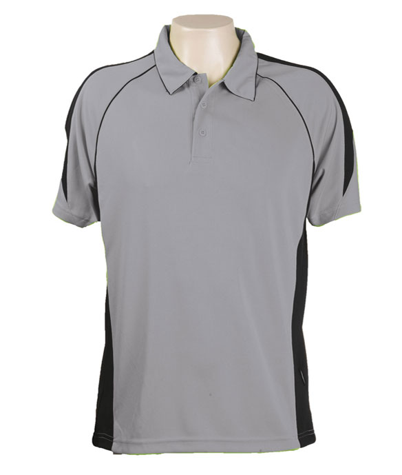 Ashe / Black Olympikool Polo shirts, Cool dry, breathable, light weight, Mens, Ladies, Kids