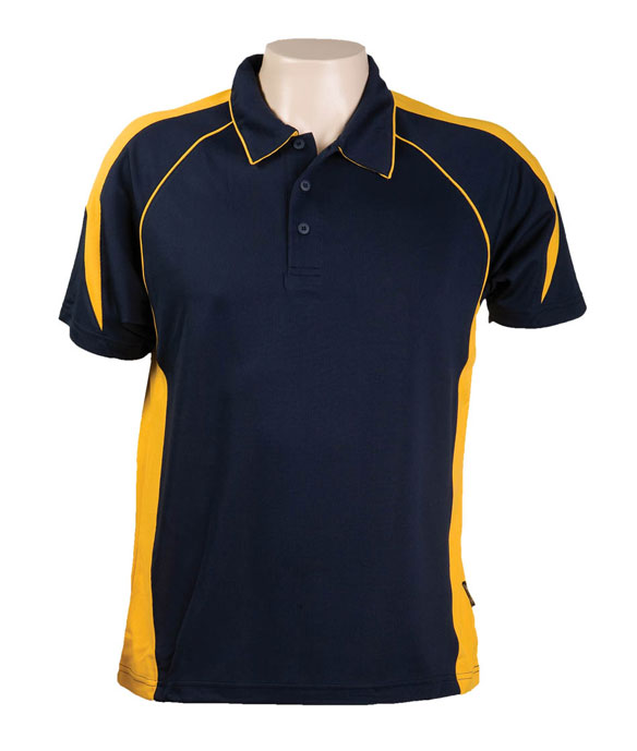 Navy Gold334 Olympikool Polo shirts, Cool dry, breathable, light weight, Mens, Ladies, Kids