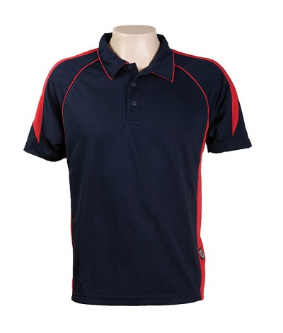 Black / Red 334 Olympikool Polo shirts, Cool dry, breathable, light weight, Mens, Ladies, Kids
