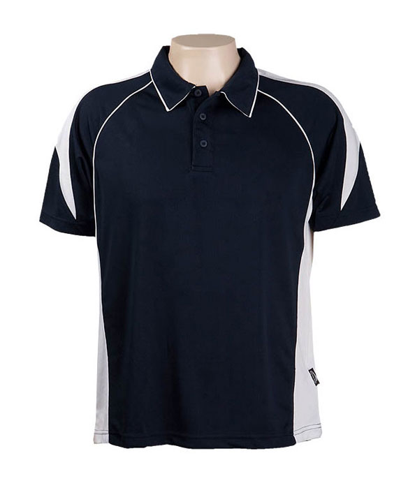 Black / White 334 Olympikool Polo shirts, Cool dry, breathable, light weight, Mens, Ladies, KidsDescription of photo here
