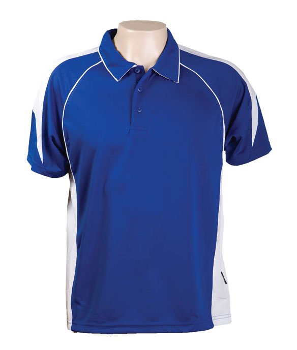 Royal / White 334 Olympikool Polo shirts, Cool dry, breathable, light weight, Mens, Ladies, Kids