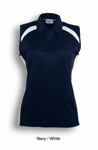 Navy / White Sleeveless Breezeway Polo shirt