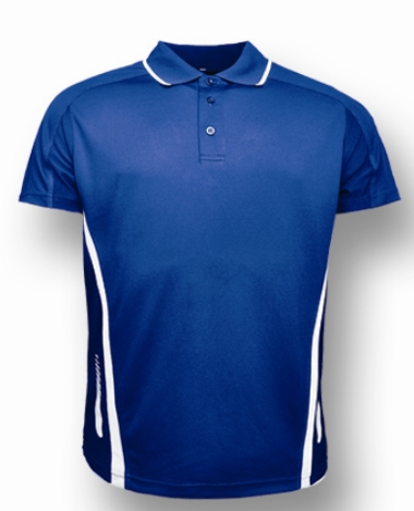 Royal / White Polo shirts