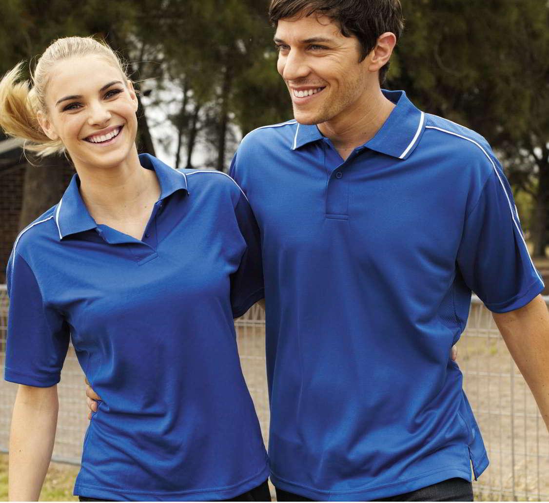 Breezeway Striped sleeve Polo shirts