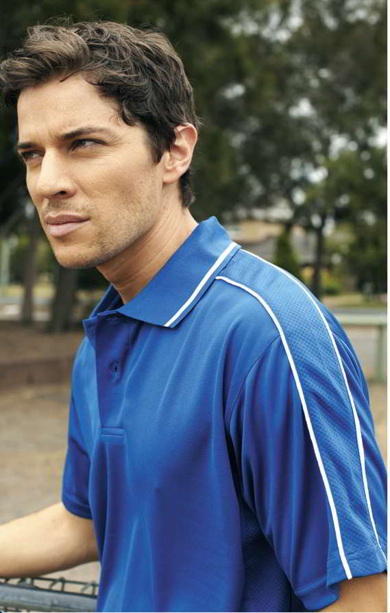 Breezeway Striped sleeve Polo shirt