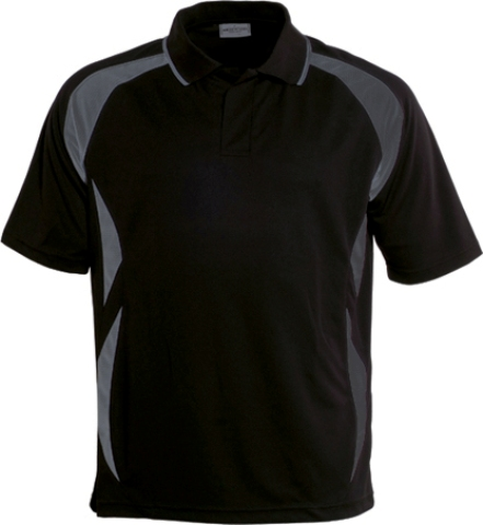 Breezeway Sports Polo shirt Black Grey