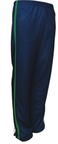 Navy / Lime Track pants