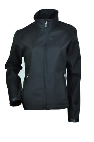 Ladies Black Softshell Jacket
