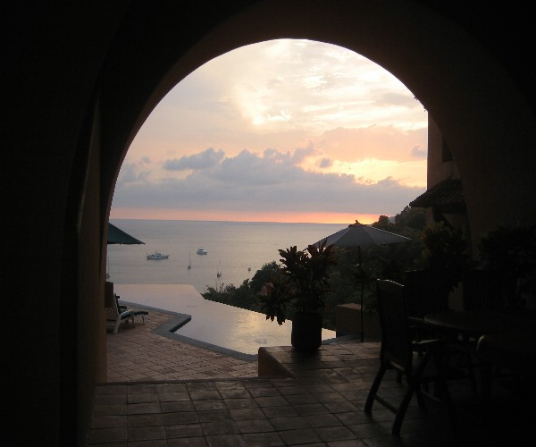Sunset View from Lobby Jan 2008