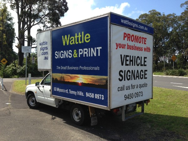 Signs and Printing Northern Beaches Vehicle Graphics Mona Vale Signage