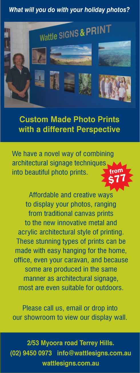 Custom Design Photo Prints Northern Beaches