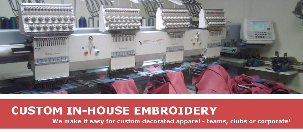 In house embroidery