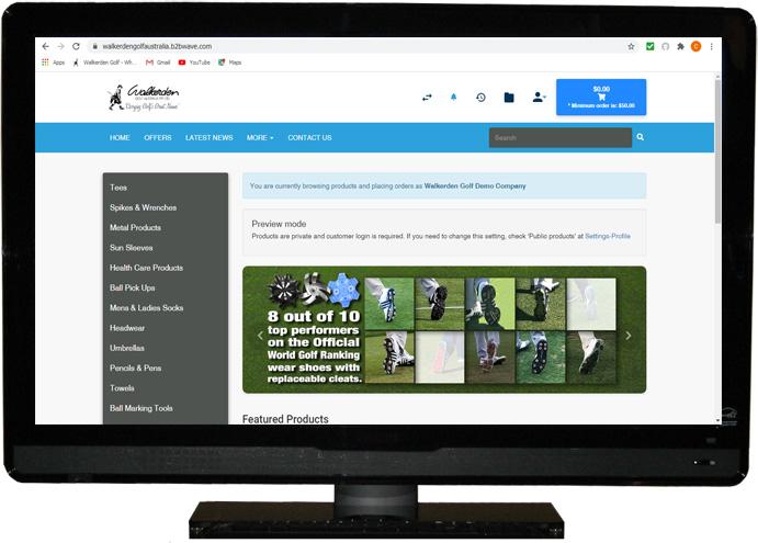 Walkerden Golf B2B Site