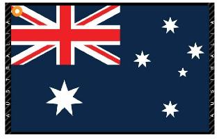 Click to Enlarge - Accessories, Towels AUSTRALIA FLAG TOWEL Walkerden Golf Australia