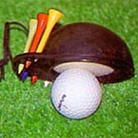 Click to Enlarge - Accessories CUP SHAPED BALL CLEANER & TEES Walkerden Golf Australia