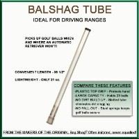 Click to Enlarge - Accessories ALUMINIUM BALL SHAG TUBE Walkerden Golf Australia
