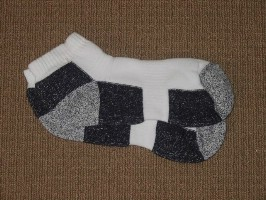 Click to Enlarge - Footlets / Socks, Mens .. MENS LOW CUT SOCKS - SUPER CUSHION FOOT Walkerden Golf Australia