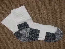 Click to Enlarge - Footlets / Socks, Mens .. MENS QUARTER SOCKS - SUPER CUSHION FOOT Walkerden Golf Australia