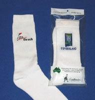 Click to Enlarge - Footlets / Socks, Custo.. CREW SOX WITH JACQUARD LOGO Walkerden Golf Australia