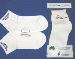 Click to Enlarge - Footlets / Socks, Custo.. LADIES FOOTLET WITH LOGO Walkerden Golf Australia