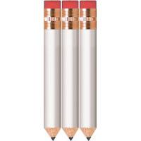 Click to Enlarge - Pencils & Pens HALF LENGTH PENCIL + ERASER. BOX OF 144 Walkerden Golf Australia