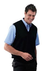 Click to Enlarge - Clothing WOOL MIX KNITTED V-NECK VEST Walkerden Golf Australia