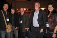 Bouchercon 2012: with Mark Billingham, Peter James, Michael Connelly and Sara Blaedel